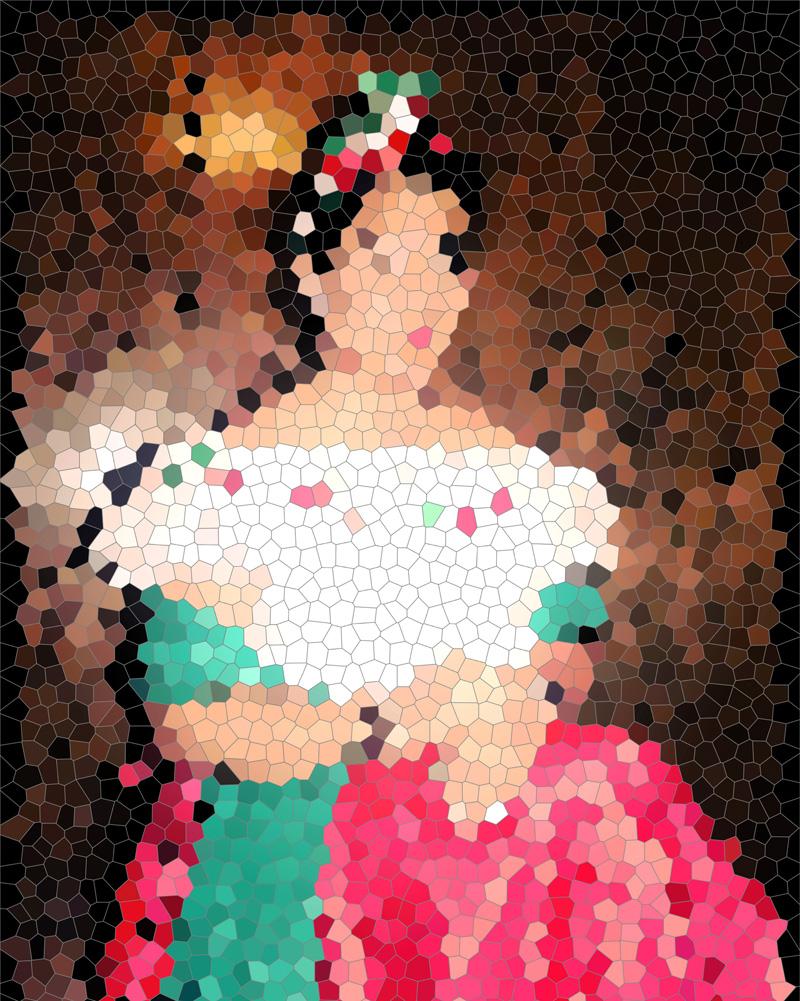 """Self-Portrait,"" Mayte Escobar, inkjet print"