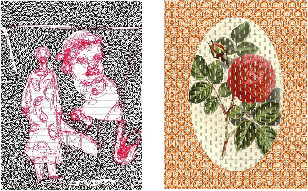 09-Imrana Tanveer, Third Space (VI), paper and thread, 2011-16